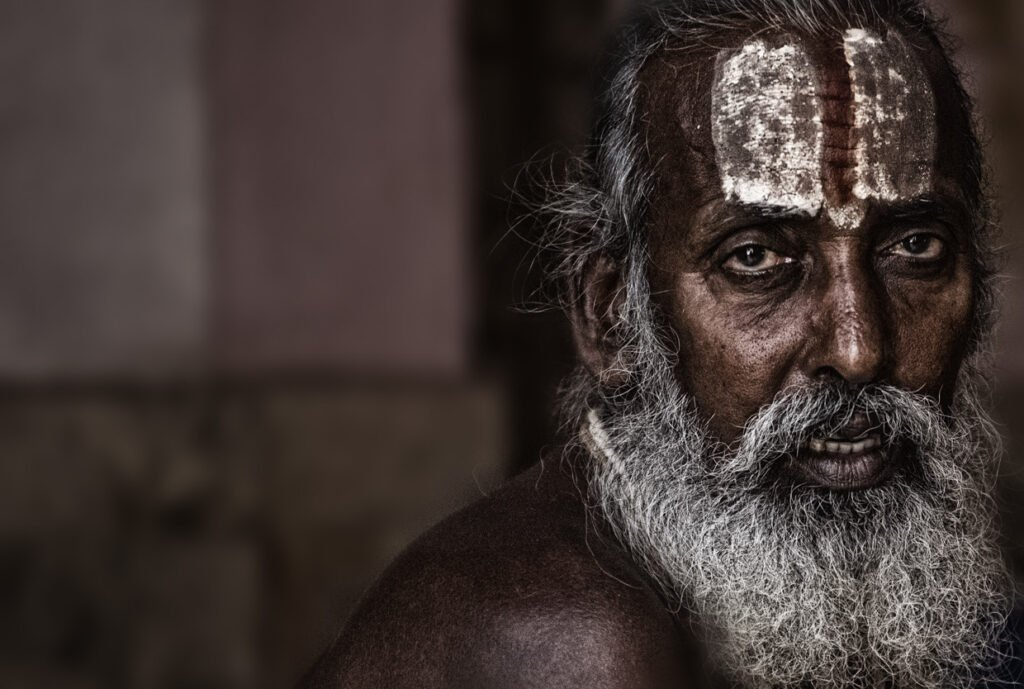 Sadhu portrait photography